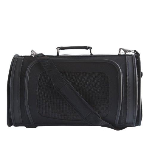 Petote Kelle Pet Travel Bag, Black, Large