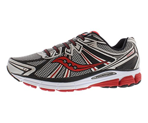 Saucony Men's Omni 13 Running Shoe,Silver/Red/Black,11 M US