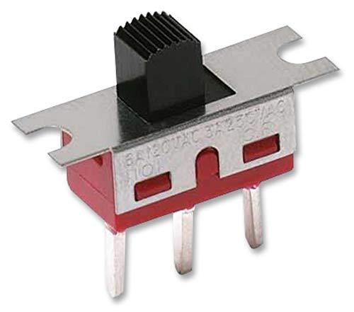 1101M2S3AV2QE2 - Slide Switch, 1000 Series, SPDT, Horizontal, Through Hole, 6 A, 250 V RoHS Compliant: Yes (Pack of 10) (1101M2S3AV2QE2) by C & K COMPONENTS