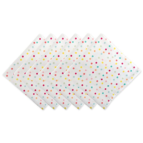 DII Cotton Print Napkin for for Dinner Parties, Weddings & Everyday Use, Set, Polka Dots, 6 Piece