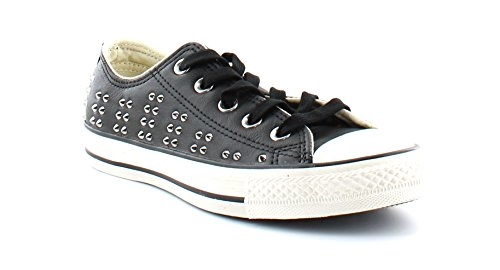 Converse Womens All Star Elevated Studs Black Sneaker - 5