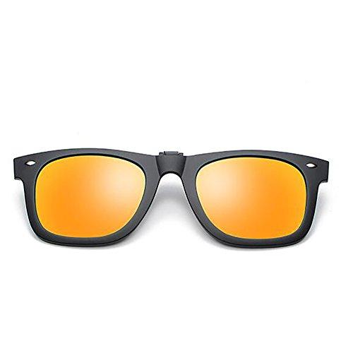 Rabattre à lunettes polarisées de sur soleil lumière de de Clip les de lunettes fixation contre clip Tukistore soleil polarisées Carré polarisé de soleil po Lunettes clip la Clip rouge rabattable Lunettes soleil YqHtRwH