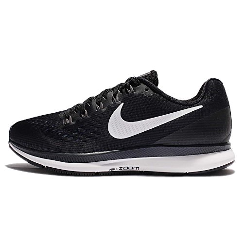 Nike Womens Air Zoom Pegasus 34 Black/White/Dark Grey/Anthracite Running Shoes (9.5) by NIKE