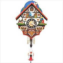 Alexander Taron Home Seasonal Décorative Accessories Engstler Key Wound Clock - Mini Size - 6H x 4.75W x 3.25D