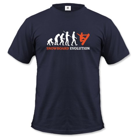SNOWBOARD EVOLUTION - HERREN - T-SHIRT in Navy by Jayess Gr. M