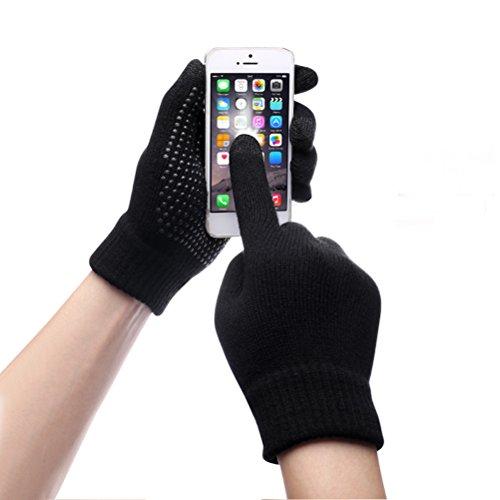 Touch Screen Gloves Unisex Wool Warm gloves ( Black) - 8