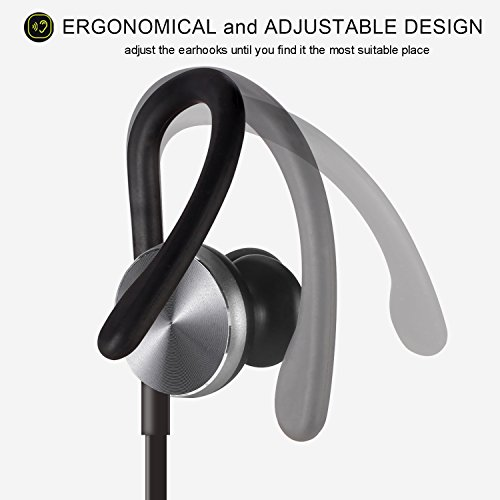 bluetooth headphones coulax wireless earphones over ear sweatproof for running with mic. Black Bedroom Furniture Sets. Home Design Ideas