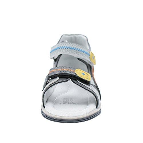 Komfortabel Jungen Sandalen Kinderschuhe Leder Insole (1126) Grau