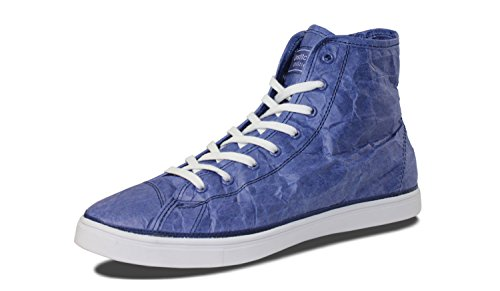 Mensili Scuciture Mens Next Day Mid Designer Tyvek Fashion High-top Navy