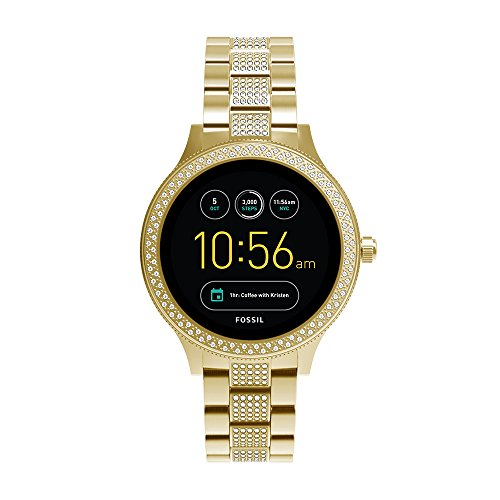 Fossil Q Women's Gen 3 Venture Stainless Steel Smartwatch, Color: Gold-Tone (Model: FTW6001)