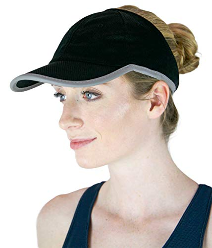 ChicPlay Sport - Ponytail Messy Bun Baseball Cap for Women | The Ultimate Runner Ponytail Hat (Black)