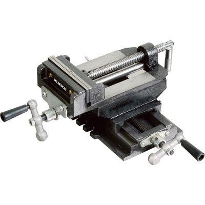 Klutch Cross Slide Drill Press Vise - 5in. Jaw Length