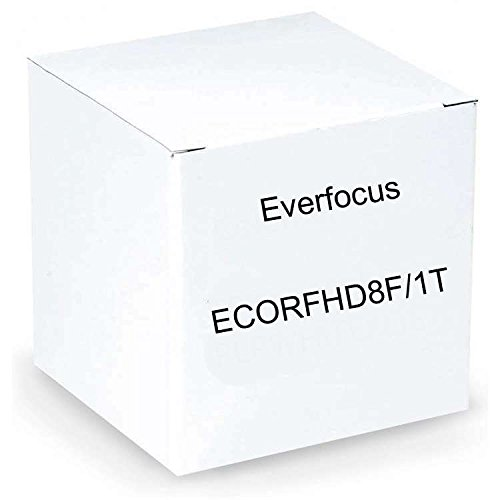 (Everfocus ECORFHD8F/1T 1080P Full Had Digital Video Recorder, Multiple Monitor Outputs, 8 Channel, Without DVD Burner, 1TB Storage)