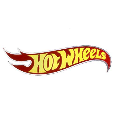 Hot Wheels Classic Flame Logo Aluminum Car Accessories Exterior Emblem ()