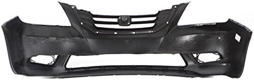 CarPartsDepot 08-10 HONDA ODYSSEY LX//EX//EX-L PRIMERED BLACK FRONT BUMPER COVER W//O SENSOR HOLE