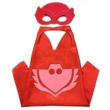 Superhero CAPE & MASK SET Kids Childrens Halloween Costume Owlette