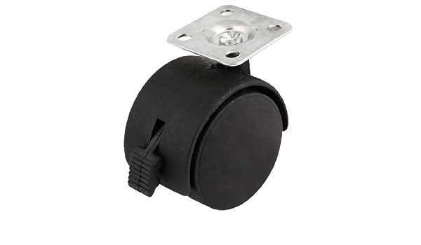 Amazon.com: eDealMax a13112000ux0313 reemplazo de las ruedas giratorias Parte Negro de plástico giratorio de las ruedas giratorias Para Silla de ruedas: ...