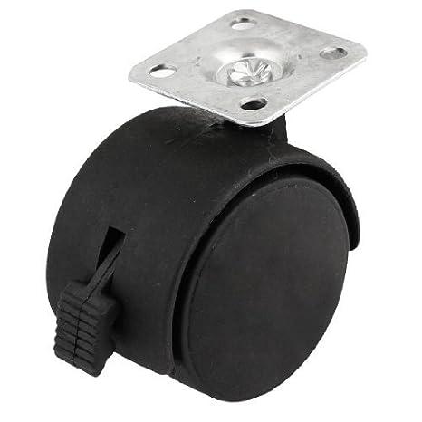 eDealMax a13112000ux0313 reemplazo de las ruedas giratorias Parte Negro de plástico giratorio de las ruedas giratorias