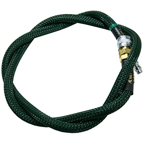 AMPED Airsoft Amped Line   Heavy Weave for PolarStar, Wolverine, and Redline HPA Units 42 Inch Forest Green Heavy