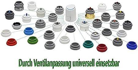 M/öhlenhoff Alpha-5 Lot de 15 forets universels pour chauffage au sol 230 V Type VA 80 Compatible avec Heimeier Kermi Roth Herb Thermoval Gris clair RAL 7035
