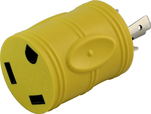 30a 125v Locking Connector - AC WORKS Generator to 30Amp RV Adapter (L5-30 30A 3-Prong Locking Compact)