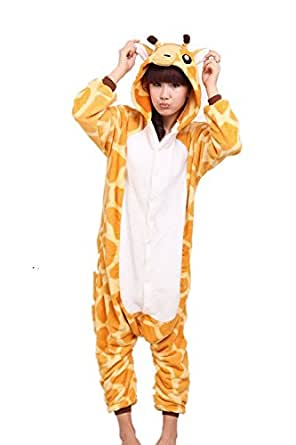 JT-Amigo Disfraz de Pijama para Unisex Adultos, Jirafa, S (Altura: 150-160cm)