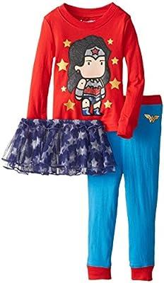 Intimo Little Girls  Wonderwoman Tutu Pajama Set