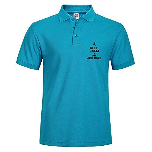 New Men Casual Slim Fit Short Sleeves Medium Basic Polo Tee Blue Shirts Keep Calm I'm An - Coupon Polo Kids