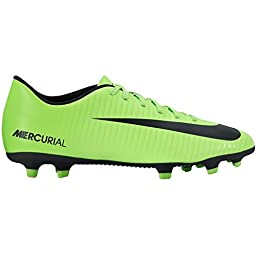 Nike Mercurial Vortex III FG Electric Green/Black/Flash Lime/White Men\'s Soccer Shoes