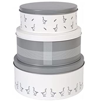 Attractive Mary Berry 3 Cake Tins Powder Coated Steel Cake Storage Baking Tins U0026 Cakes