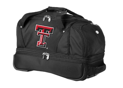 ncaa-texas-tech-red-raiders-denco-22-inch-drop-bottom-rolling-duffel-luggage-black