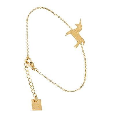 Bracelet Licorne en Origami (doré jaune), Zag bijoux