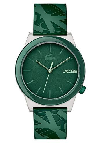 Lacoste Men's Motion Quartz Watch with Rubber Strap, Green, 20 (Model: 2010932) (Green For Lacoste Watch Men)