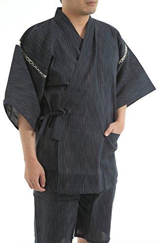 Edoten Men's Japan Kimono Jinbei 703B M