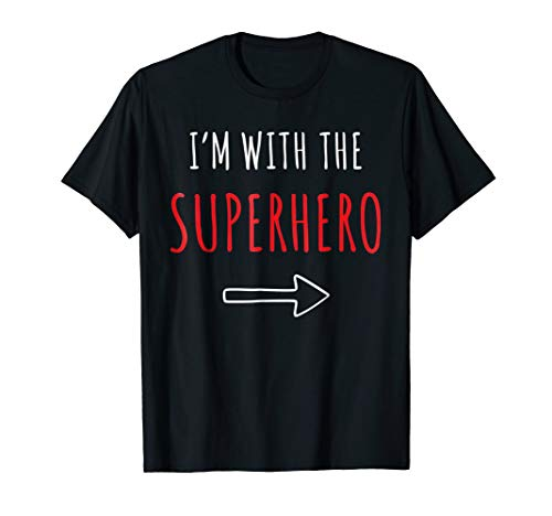 Funny Superhero T-Shirt Halloween Parents or Couples Costume ()