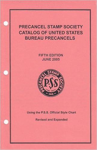 Precancel Stamp Society Catalog Of United States Bureau Precancels Amazon Books