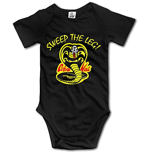 Maxi Sweep (Black Baby Boys' Cobra Kai Sweep The Leg Romper Jumpsuit)