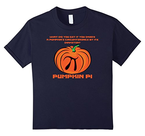 Kids Funny Halloween shirt for Teachers - Pumpkin Pi riddle 12 (Halloween Math Riddles)