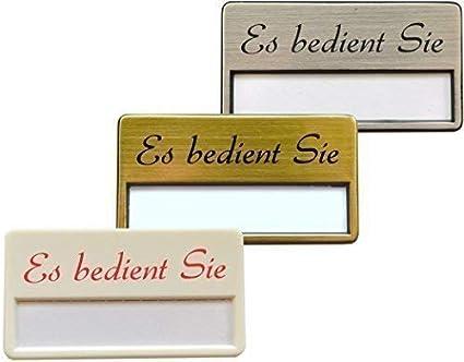 Weiss Schriftfarbe: Rot Namensschilder Magnet und Magnet Weiss Silber- Oder goldfarbig /… 10 St/ück Kunststoff Namensschild inkl AufdruckEs Bedient Sie in Rot Oder Schwarz