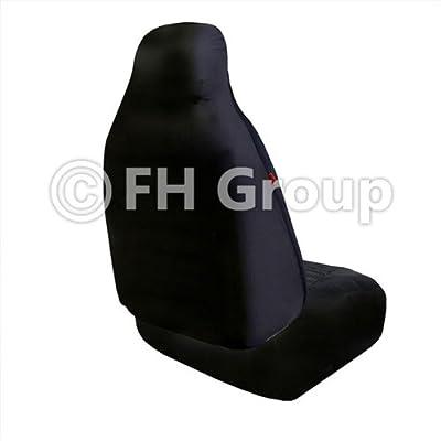FH Group FB115REDBLACK114 Full Set Seat Cover (Stylish Polka Dot High Back Red & Black): Automotive
