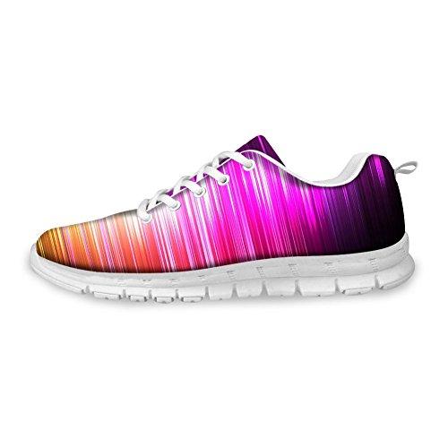 Bigcardesigns Womens Fashion Löparskor Sneakers Snörning Lila