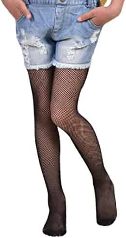 cd0ad9d27ad SUNBIBE Cute 7-15 Years old Baby Girls Hosiery Black Fishnet Elastic Thigh  High Stockings