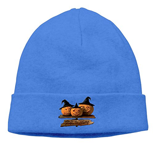DETO Men's&Women's Halloween Patch Beanie WalkRoyalBlue Caps (Halloween Colorado 2016)