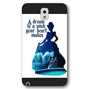 Customized Black Frosted Disney Princess Cinderella Samsung Galaxy Note 3 Case hjbrhga1544