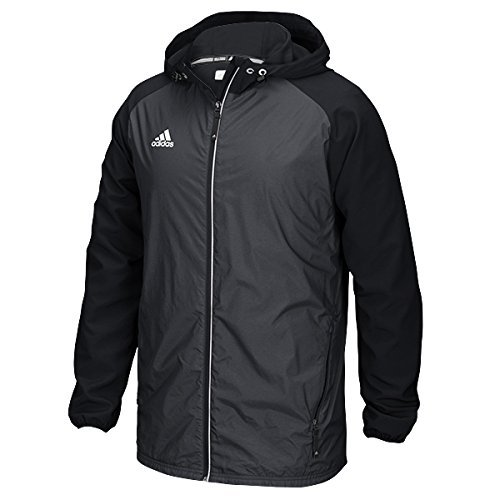 Adidas Mens Modern Varsity Woven Jacket (Black, 2X-Large) by adidas
