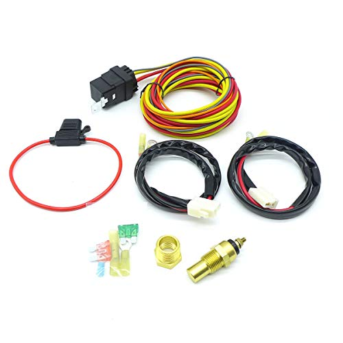 (TIKSCIENCE 185/175 Degree Champion Cooling 40amp Electric Fan Relay Kit Single or Dual Fans)