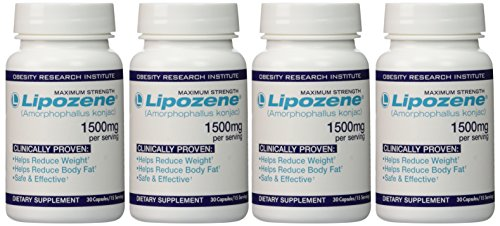 Lipozene Maximum Strength Dietary Supplement Fat Burner 4 Bo