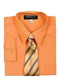 WonderfulDress Boy Long Sleeve Dress Shirt Tie