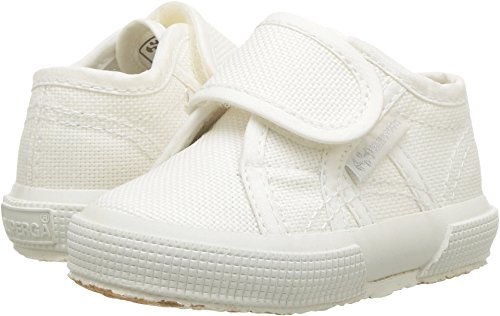 Superga Kids Unisex 2750 JVEL Classic (Infant/Toddler) Total White 19 M EU (Superga Kids Classic Shoe)