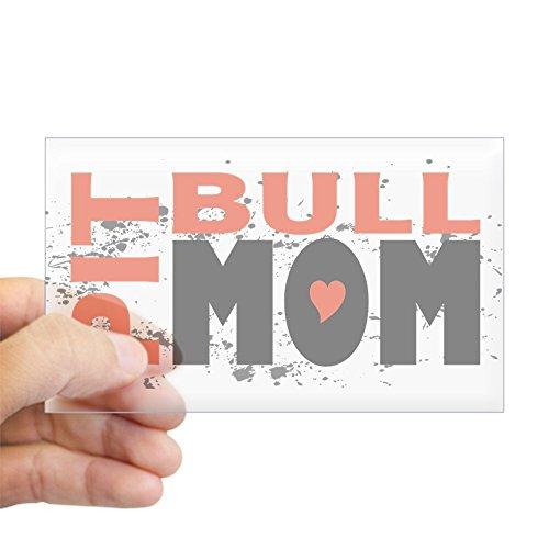 CafePress - Pit Bull Mom Rectangle Sticker - Rectangle Bumper Sticker Car - Bumper Sarah Palin Stickers